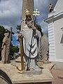 Holy Trinity column, Pope Saint Alexander in Gyenesdiás, 2016 Hungary.jpg