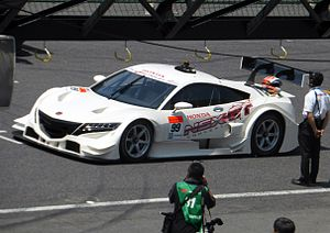 2014 Super GT Series - The Honda NSX-GT at its first public presentation at the 2013 42nd International Pokka Sapporo 1000km.