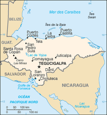 Description de l'image Honduras carte.png.