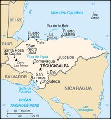 Description de l'image Honduras carte.png.