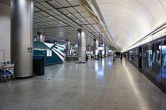 Hong Kong station - Platform 1 (Airport Express)