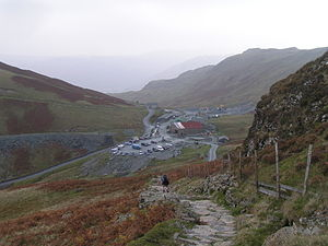 Honister Pass - The top of Honister Pass and the slate mine
