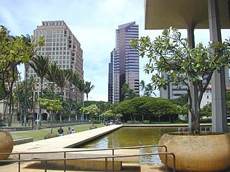 Hawaii State Capitol - Reflecting pool