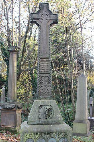 Horatio McCulloch - Horatio McCulloch's grave in Warriston Cemetery in Edinburgh