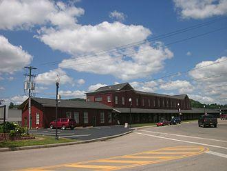 Hornell, New York - Hornell's Erie Railroad station in July 2013