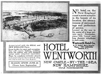 Wentworth by the Sea - A hotel advertisement in the 1915 issue of Scribner's Magazine