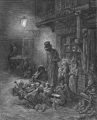 Houndsditch - 1872 engraving of Houndsditch by Gustave Doré