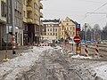 Hradčanská, dočasná zastávka a ulice.jpg
