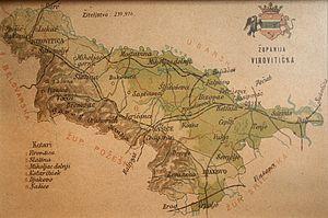 Virovitica County - Old map of Virovitica County