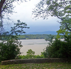 Clermont State Historic Site - View of Catskills and Hudson from estate