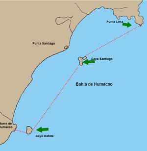 Cayo Batata - Humacao Estuary, with Cayo Batata in the southwest