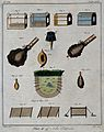 Hunting; traps and snares for catching ground-feeding birds. Wellcome V0025686EL.jpg