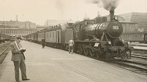 4-6-0 - Class Hv2 no. 583 at Helsinki Central station in 1960