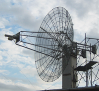 A dish antenna for UHF EME at I2FZX, Milan, Italy