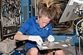 ISS-37 Karen Nyberg works with a plant experiment in the Destiny lab.jpg