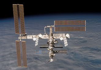 STS-116 - A photograph of the ISS after STS-116 with the new P5 truss segment