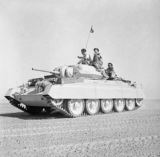Crusader tank - A Crusader II tank in the Western Desert, 2 October 1942. Image: Imperial War Museum, London.
