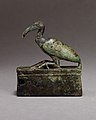 Ibis on a shrine shaped box, probably for an animal mummy MET 04.2.460 EGDP014643.jpg