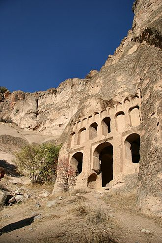 Rock-cut architecture - A rock-cut temple in Cappadocia