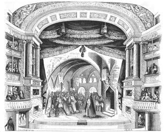 Les Burgraves - Les Burgraves, scene of the second act
