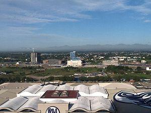 Iloilo Business Park - View of Iloilo Business Park from SM City Iloilo, January 2015