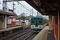 Inari station, Keihan Railway train, May 2017.jpg