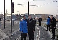 Inauguration de la branche vers Vieux-Condé de la ligne B du tramway de Valenciennes le 13 décembre 2013 (043).JPG