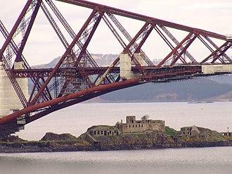 Inchgarvie - Inchgarvie beneath the Forth Bridge.