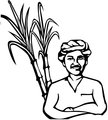 Indian Election Symbol sugarcane farmer.png