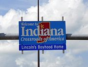 Indiana schild
