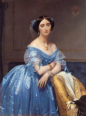 Timeline of art - Image: Ingres Princess Albert de Broglie