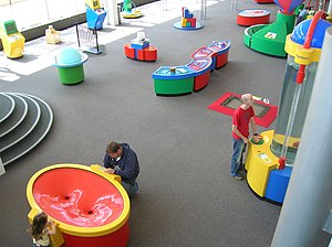Inside Techniquest, Cardiff Bay, Cardiff, Wales
