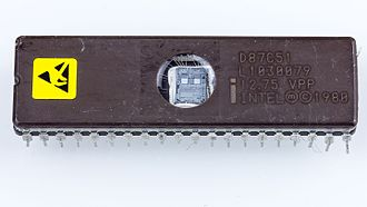 CHMOS - Intel D87C51. Fabricated on Intel's CHMOS III-E technology. A member of the MCS-51 controller family