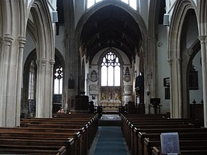 St Cyriac's Church, Lacock - The interior of the church
