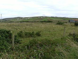 Rundale - Rundale clachan patterns of settlement still visible in Inver, Kilcommon, Erris, County Mayo, Ireland