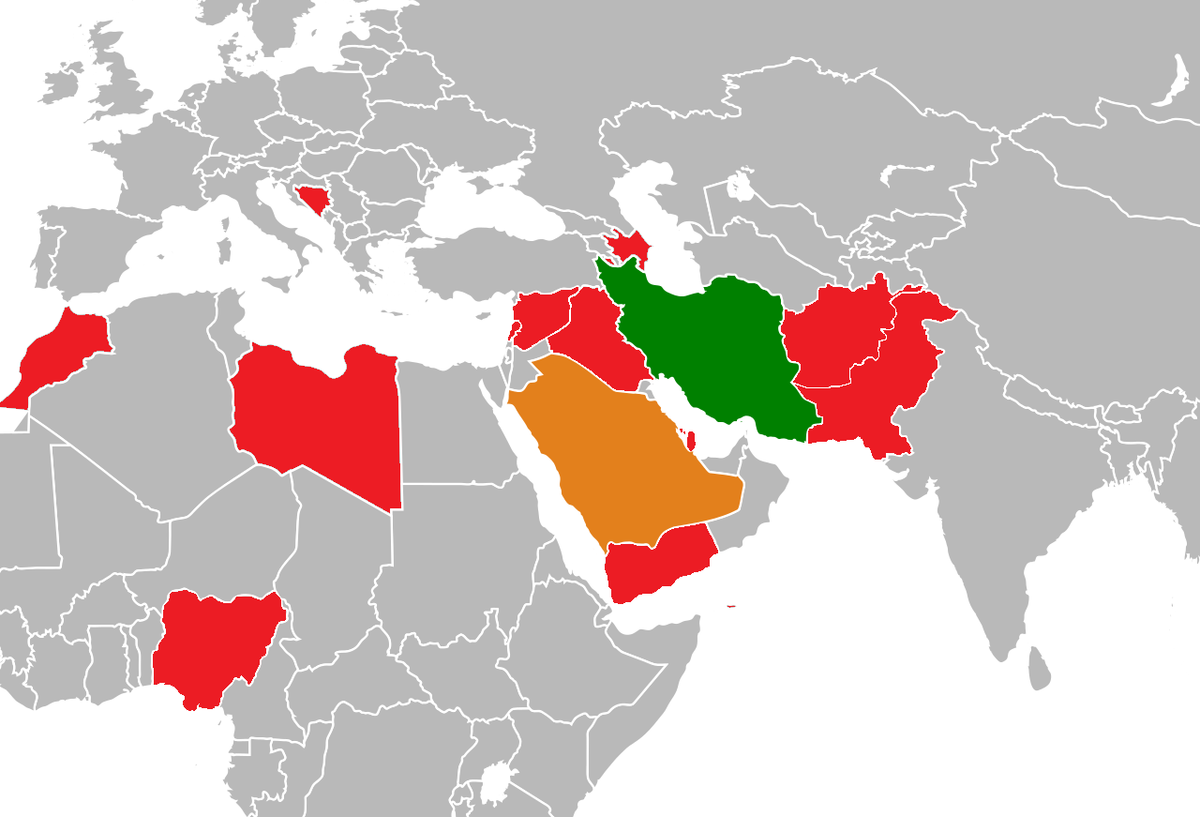 Iran–Saudi Arabia proxy conflict - Wikipedia on iran on world map, turkey on world map, egypt on world map, middle east map, india on world map, japan on world map, syria on world map, kuwait on world map, china on world map, cuba on world map, mexico world map, africa on world map, iraq on world map, nigeria on world map, afghanistan map, united states on world map, brunel on world map, saudi arabia map outline, eritrea on world map,