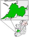 Ireland map County Clare Magnified.png