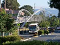 Iron Horse Regional Trail bridge and WHEELS bus, May 2018.JPG