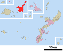 Location of Ishigaki in Okinawa Prefecture