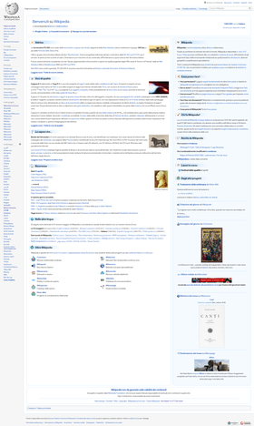 The Main Page of the Italian Wikipedia