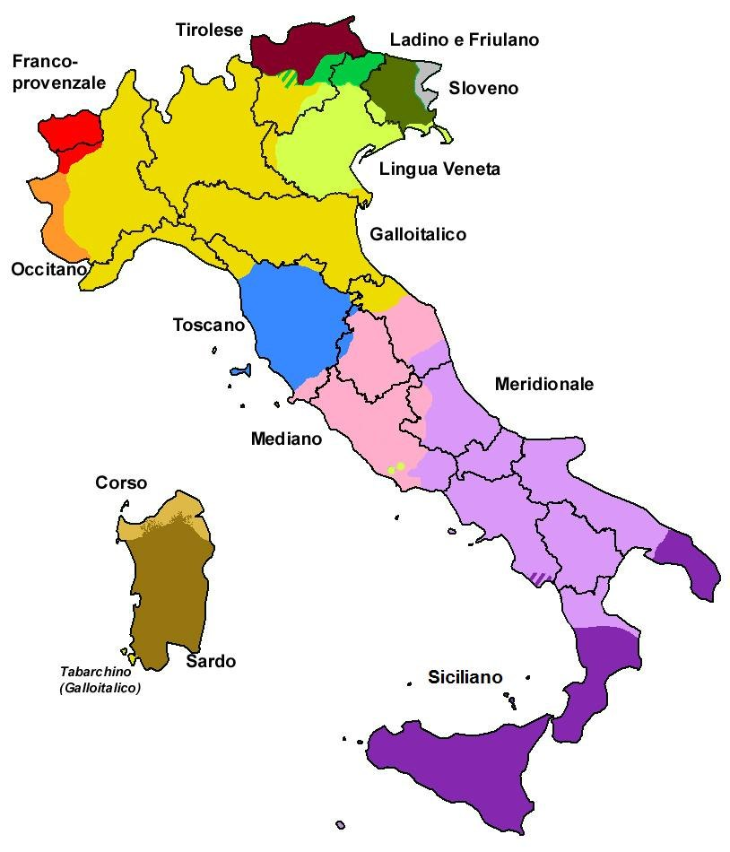 Italy - Forms of Dialect