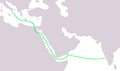 Italy to India Route.png