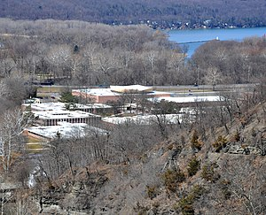 Ithaca City School District - Ithaca High School from the Stewart Avenue Bridge