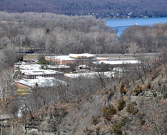 Ithaca City School District - Ithaca High School from the Stewart Avenue Bridge