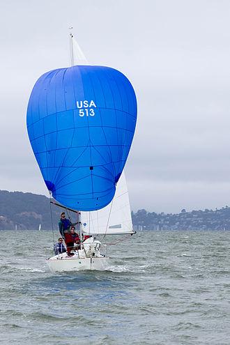 J/24 - J24 sailing downwind in San Francisco bay