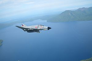 Fighter units of the Japan Air Self-Defense Force - F-4EJ Kai in flight; two JASDF squadrons still fly them