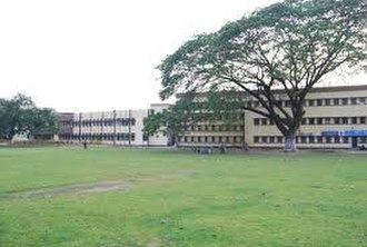Jalpaiguri Government Engineering College - side view of JGEC central building