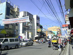 The busy J.P. Rizal Avenue in Barangay San Vicente is Calapan City's main street.