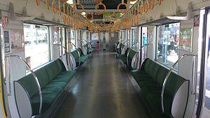 321 series - Image: JRW321 renewal inside of train