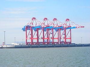 JadeWeserPort - JWP container cranes